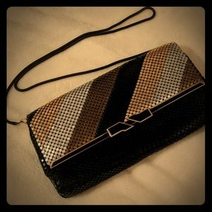 Vintage metallic mesh evening bag